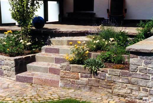 Stufenanlage aus Porfür